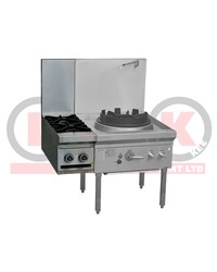 2 GAS OPEN BURNER CLIP ONTO GAS WOK