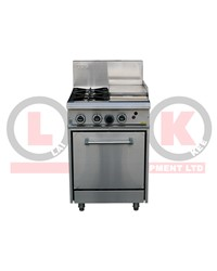 2 GAS OPEN BURNERS + 300mm GRIDDLE + STD OVEN