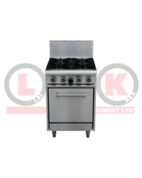 4 GAS OPEN BURNERS + STANDARD OVEN