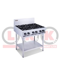6 GAS OPEN BURNERS WITH LEGS
