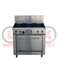 6 OPEN BURNER + STATIC OVEN